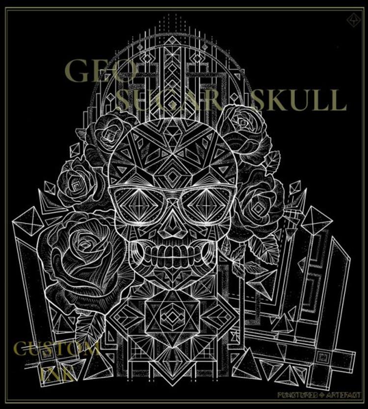 CG-GeoSugarSkull-WB