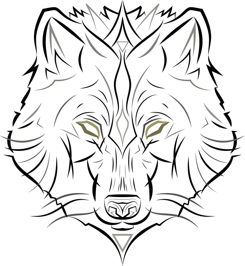 Wolf Vector Icon | Punctured Artefact | Wolf Art