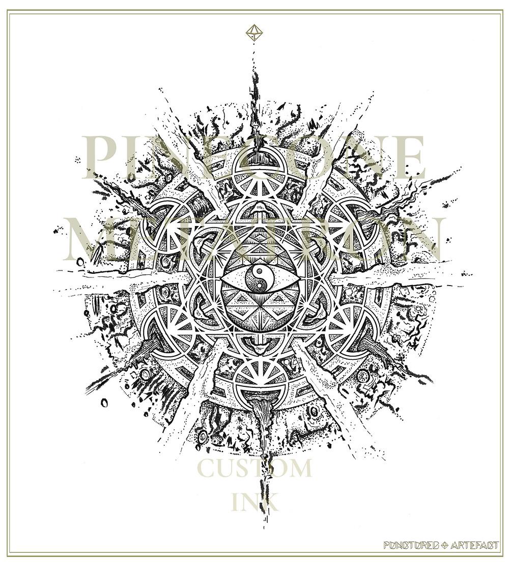 Pinecone Metatron | Custom Tattoo Design | Punctured Artefact