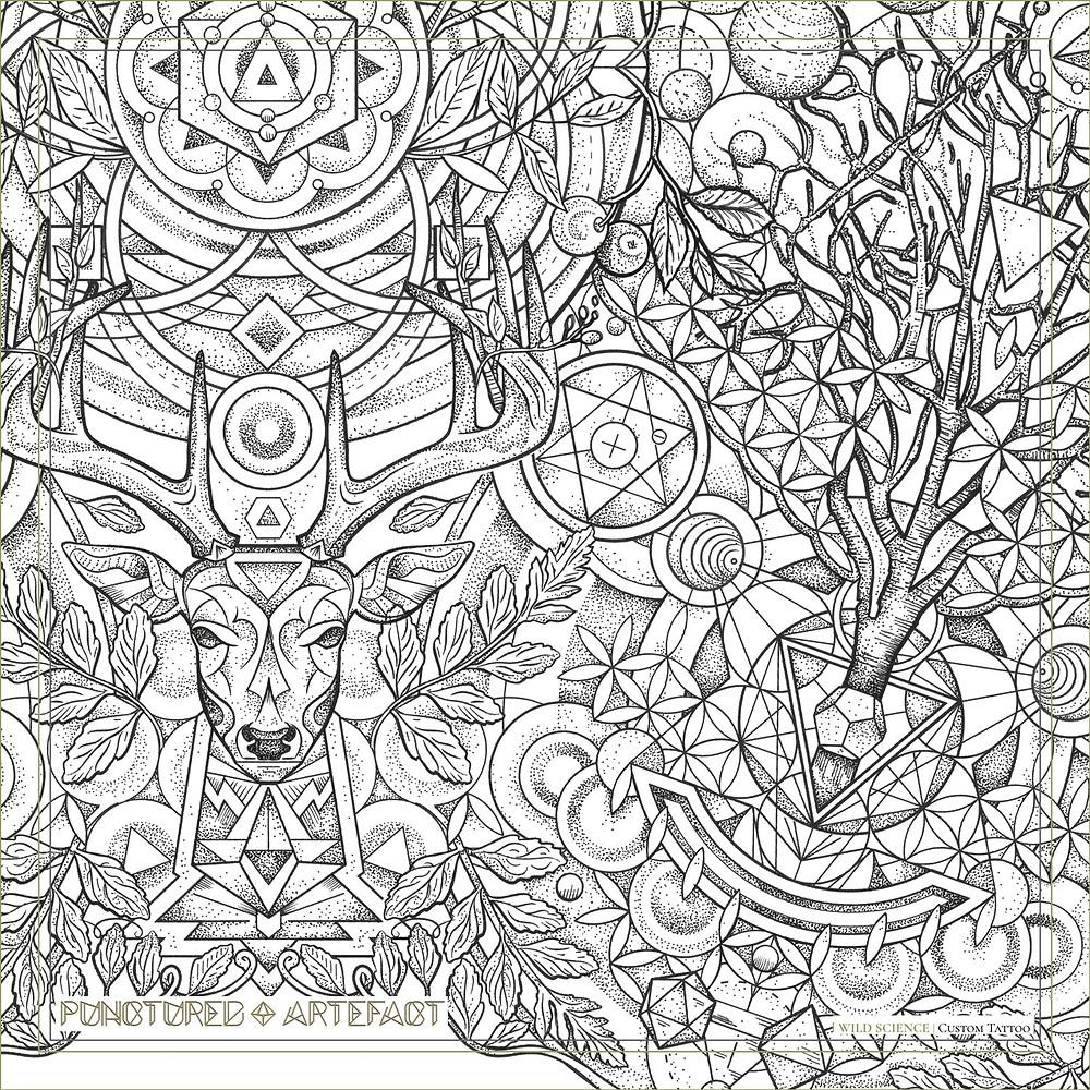 Wild Science | Tattoo Sleeve Design | Punctured Artefact