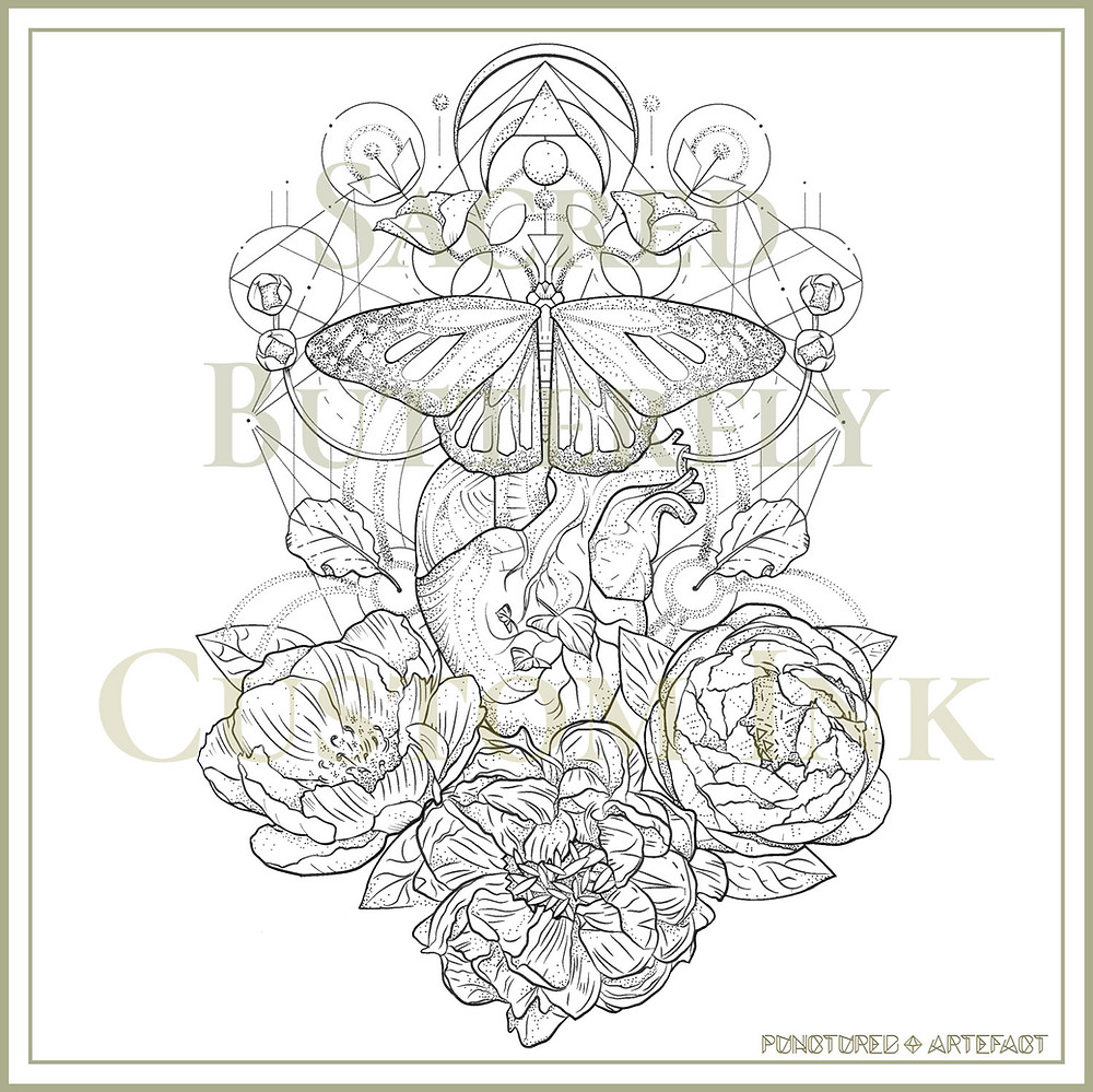 SACRED BUTTERFLY | TATTOO DESIGN |