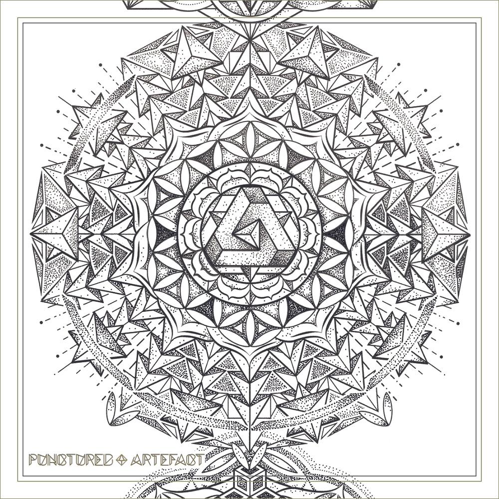 | Large Tattoo Design | Torso | 2018 | Chakra Totem | Geometric Mandala | Solar