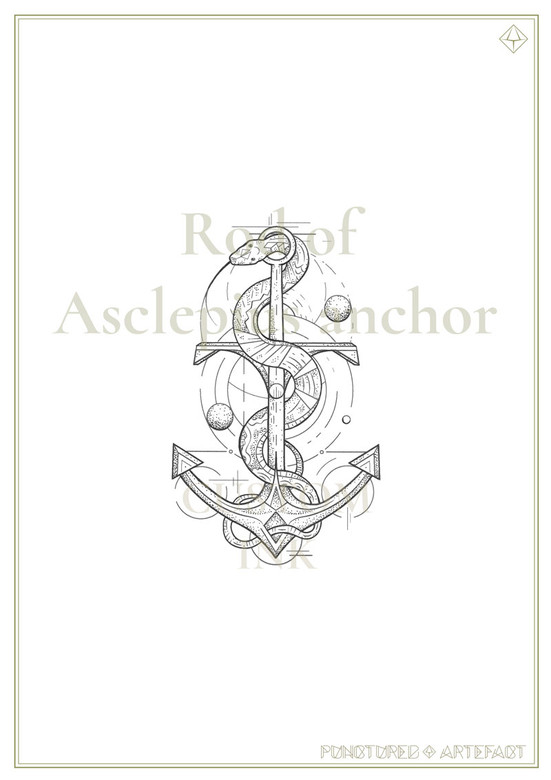 Rod of Asclepius Anchor