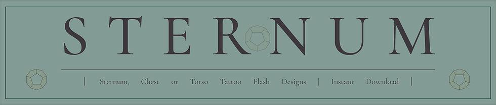 Sternum, Chest or Torso Tattoo Flash Designs | Instant Download