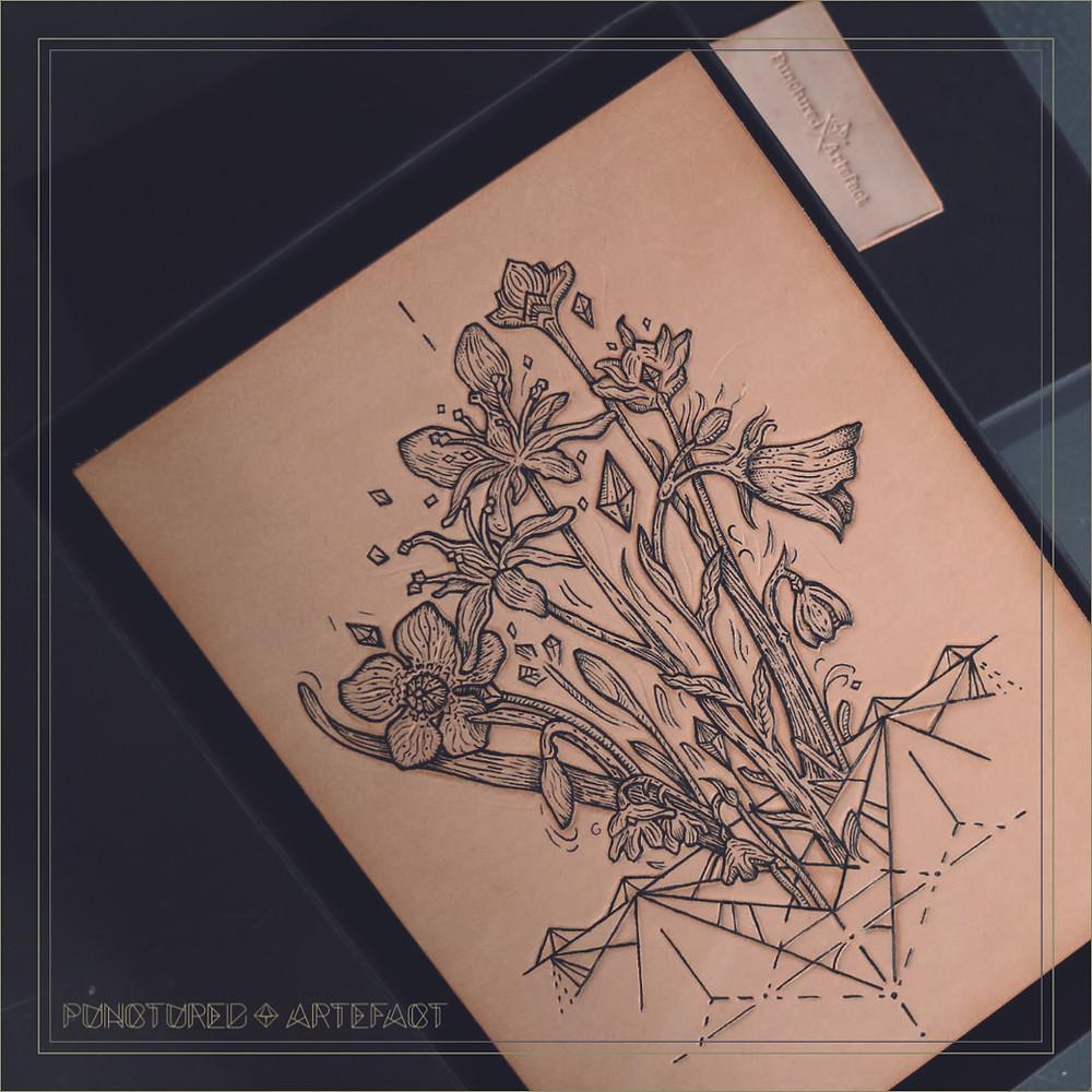 Alpine Flowers || Tattooed Leather Art