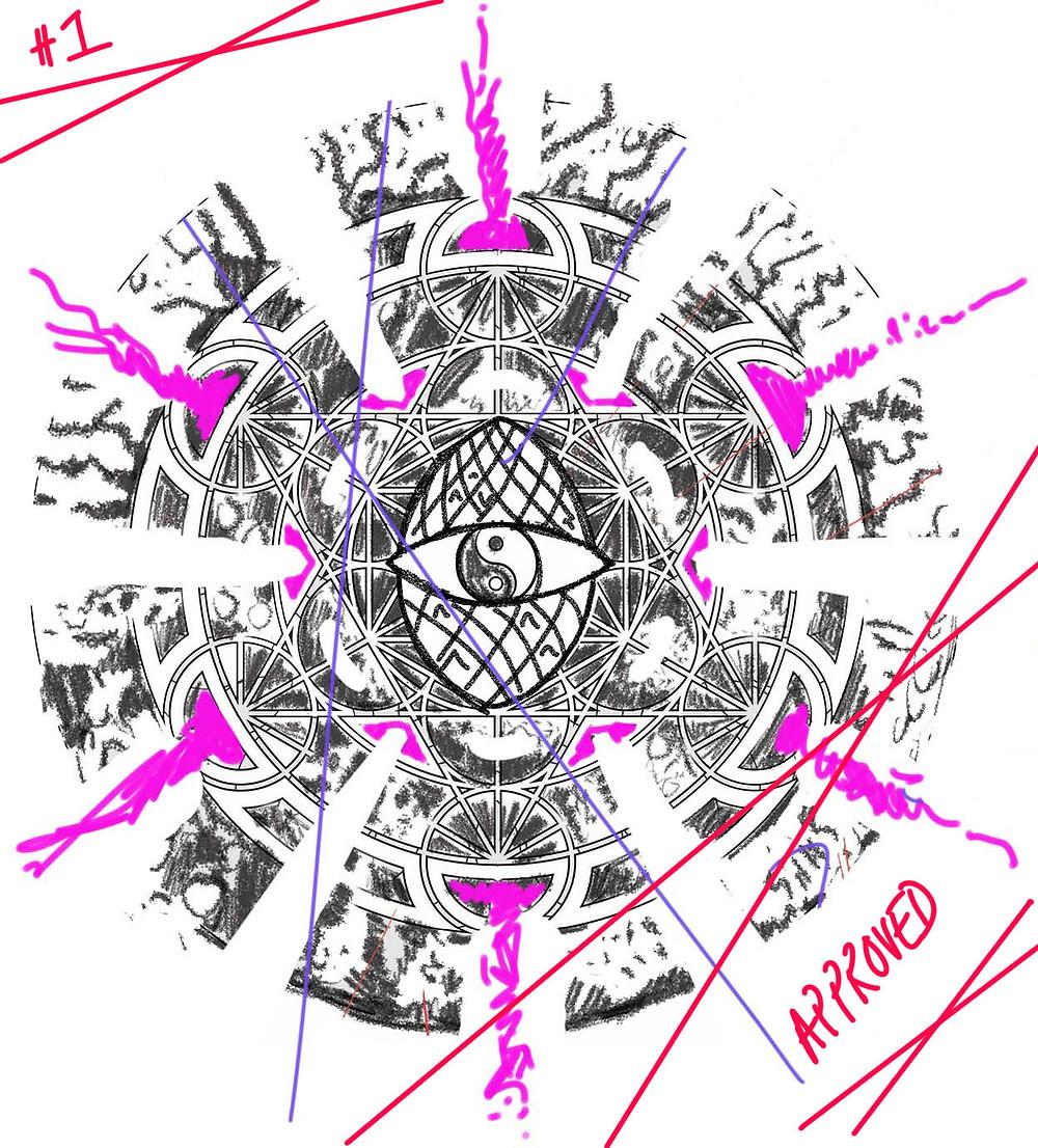 Pinevone Metatron | Design Rough | Tattoo