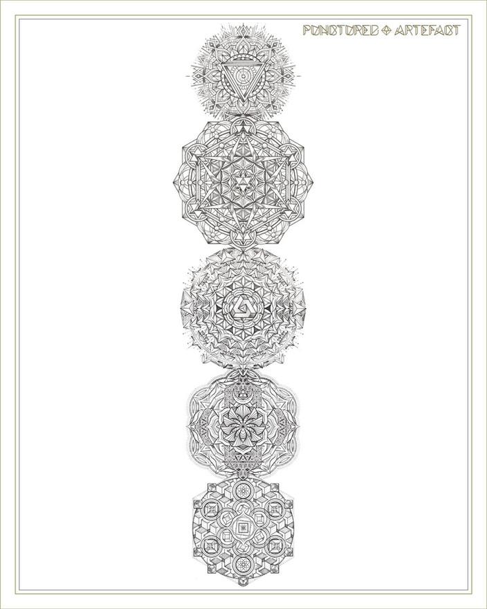 Chakra Totem | Torso Tattoo Design