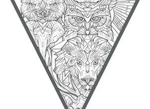 CUSTOM INK   Mini Geometric Animals