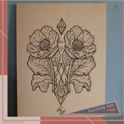 LEATHER ART | Poppy Duo