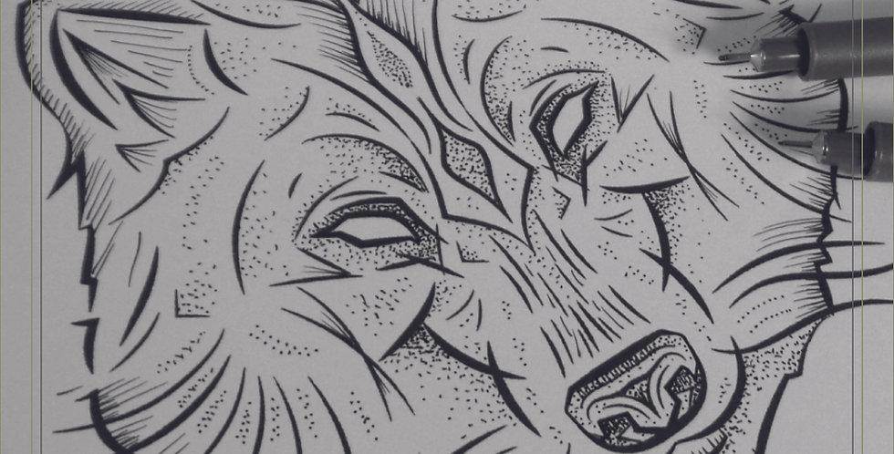 ORIGINAL ART   Wolf