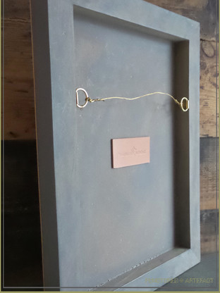 Grey Wooden Panel | Leather Tattooed Art