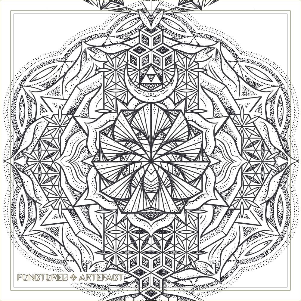 | Large Tattoo Design | Torso | 2018 | Chakra Totem | Geometric Mandala | Sacral