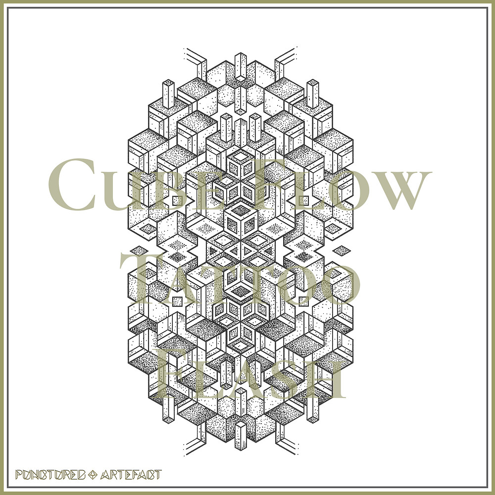 TATTOO FLASH | SACRED 39 | Cube Flow | Available as an Instant Download |