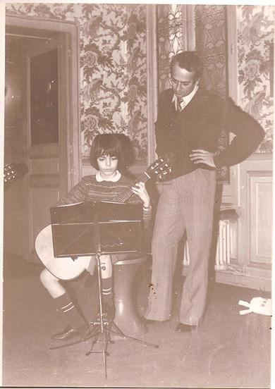 Enfant avec François TOMASI