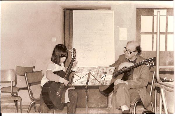 Avec Maître Antonio PEREIRA-ARIAS, professeur au Conservatoire Supérieur de La Haye