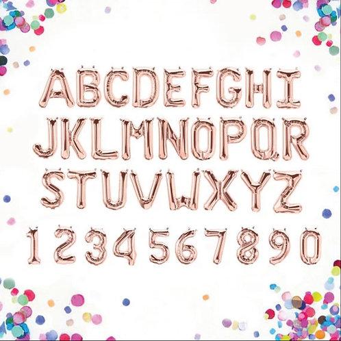 字母及數字氣球