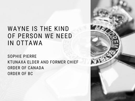 Sophie Pierre Endorses Wayne Stetski