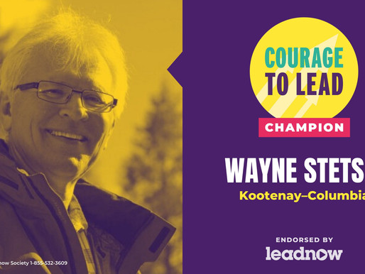 """Wayne selected as a """"Courage to Lead Champion"""""""