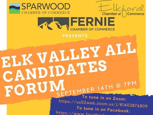 RECORDING: Elk Valley All Candidates Forum