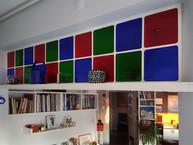 Açık mutfak ve salon arasına İspanyol camları ile tasarlanmış lake bir kirişle geçiş sağlandı...
