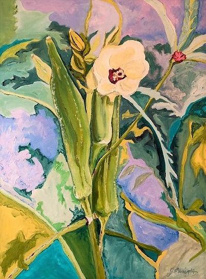 Summer Okra 18x24 oil on canvas.jpeg