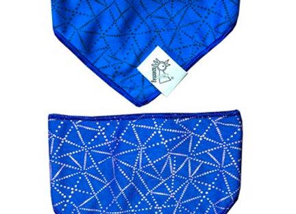 Pañoleta +Cotas Mini Azul