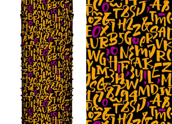 Microfibra Lettering Naranja