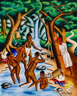 Bathers at a stream, 1951.