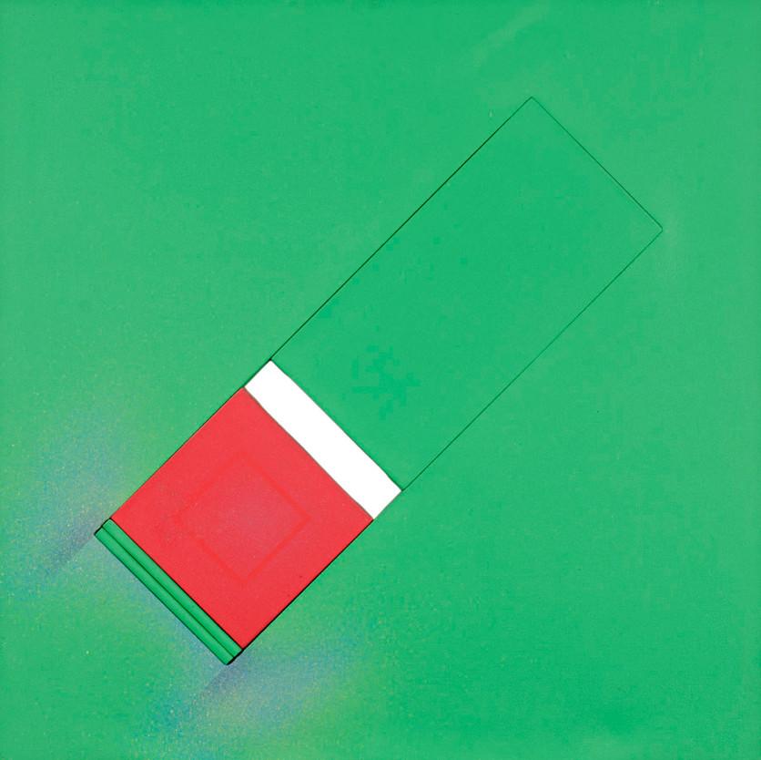 Geometría en verde y rojo, 2003.