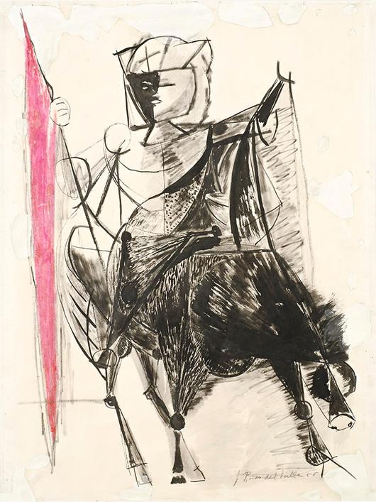 Conquistador a caballo, 1958.