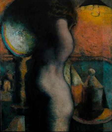 Mujer desvistiéndose, 1978.