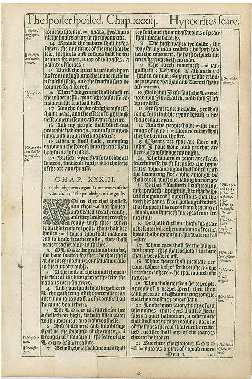Isaiah 32:13b-33:21a - 33:21b-35:2a