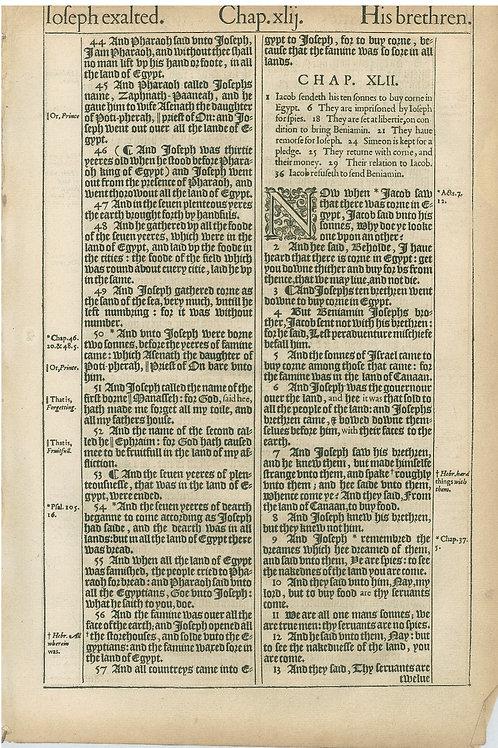 Genesis 41:44-42:13a - 42:13b-43:1a