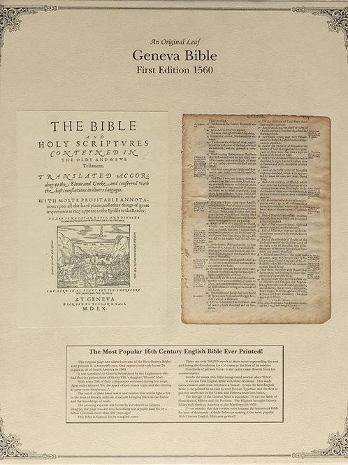 1560 First Edition Geneva Bible Leaf