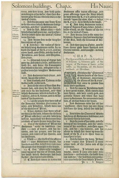 1 Kings 9:11b-10:7 - 10:8-11:1
