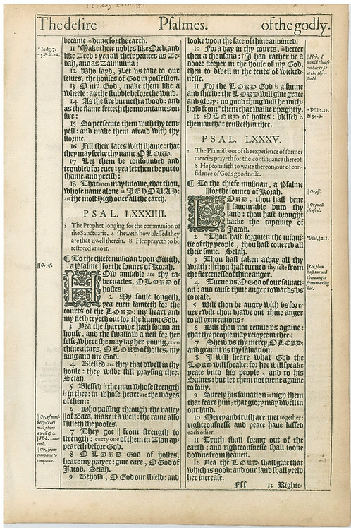 Psalms 83:10b-85:12 - 85:13-88:5a