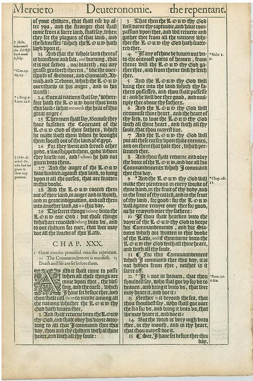 Deuteronomy 28:67-29:22a - 29:22b-30:15a