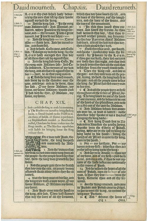 2 Samuel 18:28b-19:16a - 19:16b-19:39a