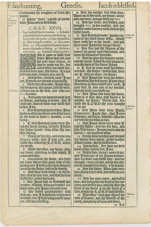 Genesis 26:5b-25:34a - 25:34b-27:28