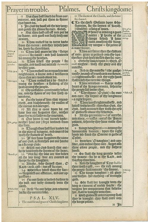 Psalms 41:11b-44:6 - 44:745:15