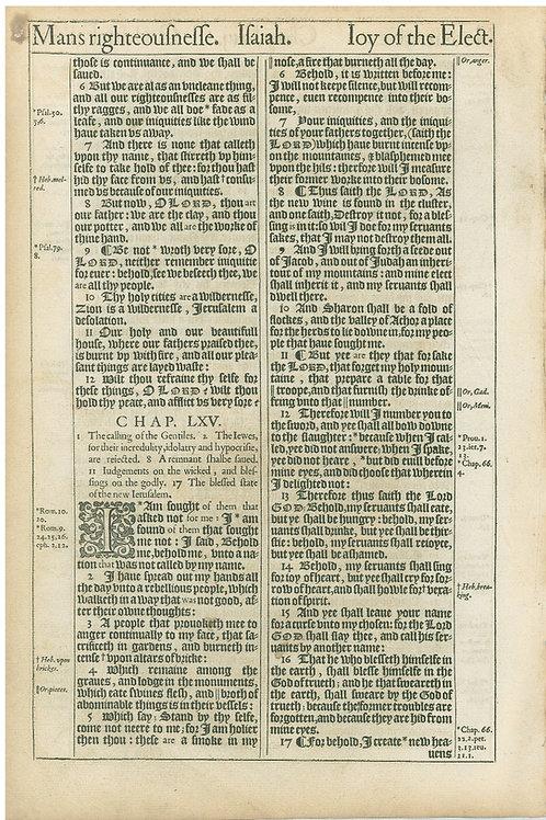 Isaiah 63:1b-64:5a - 64:5b-65:17a