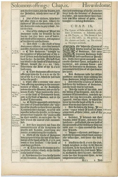 2 Chronicles 8:7b-9:8 - 9:9-10:2a