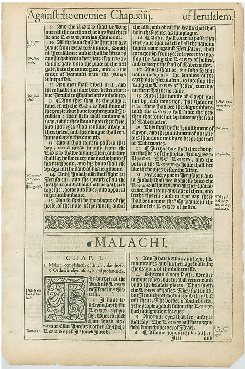 Zechariah 14:9-Malachi 1:6a - 1:6b-2:13a Title Page