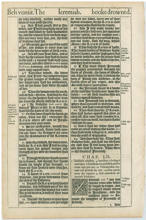 Jeremiah 51:17-51:43a - 51:43b-52:1