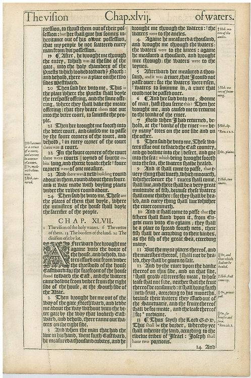 Ezekiel 46:18b-47:13 - 47:14-48:14a