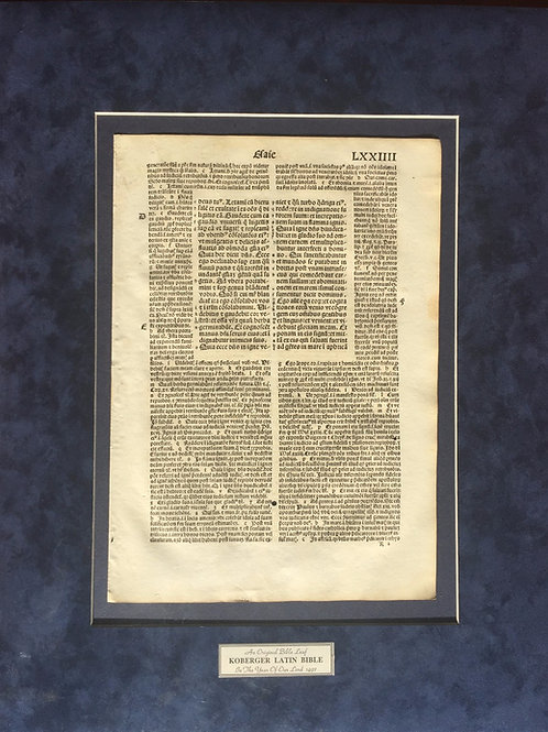 1497 Koberger Latin Bible Leaf