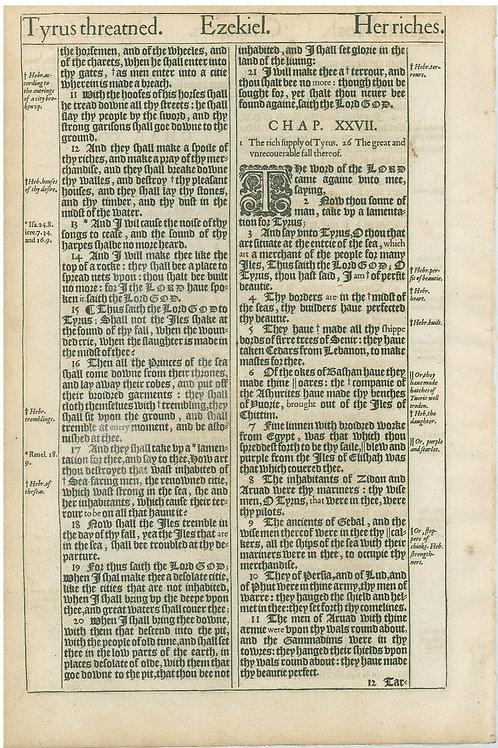 Ezekiel 25:4b-26:10a - 26:10b-27:11
