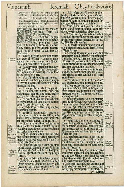 Jeremiah 6:6b-7:1a - 7:1b-7:26