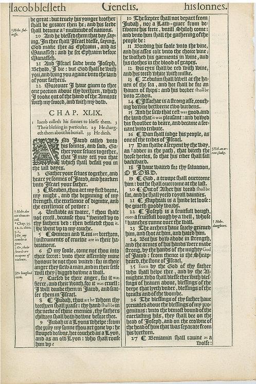 Genesis 47:27b-48:19a - 47:19b-49:27a