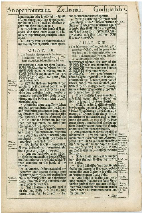 Zechariah 11:8-12:1a - 12:1b-14:8